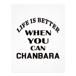 Life Is Better When You Can Chanbara Letterhead Design