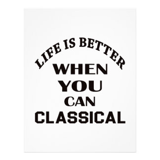 Life is better When you can Classical dance Letterhead