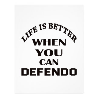 Life Is Better When You Can Defendo Letterhead