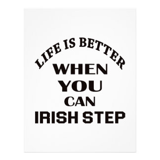 Life is better When you can Irish Step dance Letterhead Template
