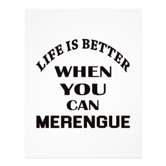 Life is better When you can Merengue dance Letterhead Template