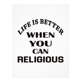 Life is better When you can Religious dance Custom Letterhead