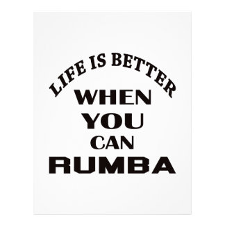 Life is better When you can Rumba dance Personalized Letterhead