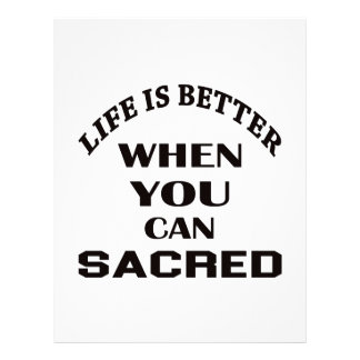 Life is better When you can Sacred dance Personalized Letterhead