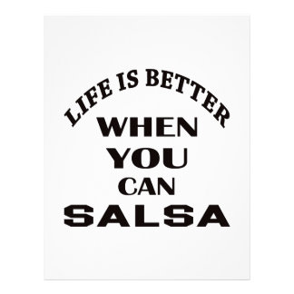 Life is better When you can Salsa dance Letterhead Design