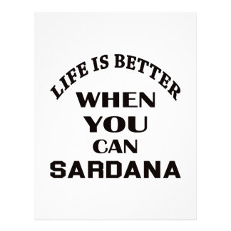 Life is better When you can Sardana dance Letterhead