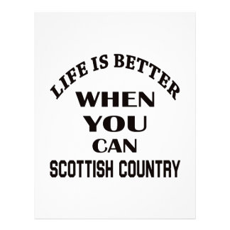 Life is better When you can Scottish Country dance Letterhead Template