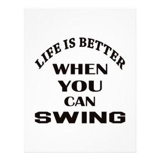 Life is better When you can Swing dance Letterhead
