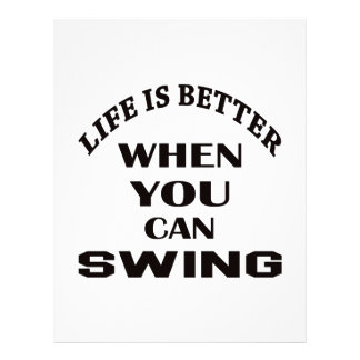 Life is better When you can Swing dance Personalized Letterhead