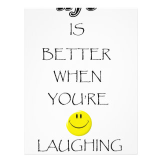 life is better when you're laughing letterhead design