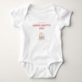 Life is better when you're zen baby bodysuit