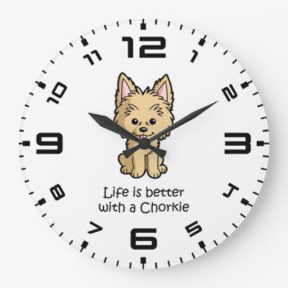 Life Is Better With A Chorkie Large Clock