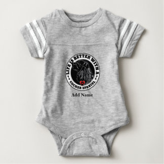 Life Is Better With A Cocker Spaniel Personalized Baby Bodysuit