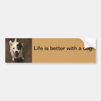 Life is better with a dog bumper sticker