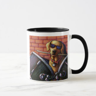 """Life is Better With a Drummer"" Yellow Lab Drums Mug"
