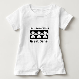 Life Is Better With A Great Dane Baby Romper