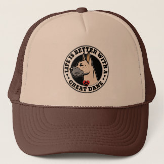 Life Is Better With A Great Dane Dog Breed Trucker Hat