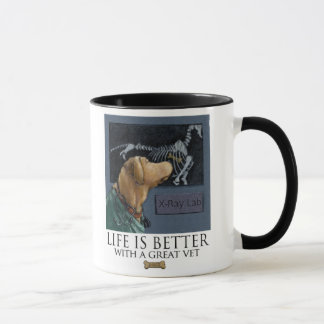 Life Is Better With A Great Vet Yellow Labrador Mug