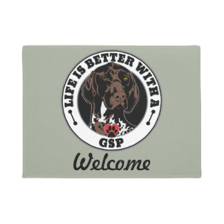 Life Is Better With A GSP Dog Breed Doormat