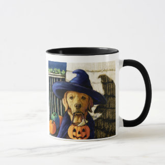 """Life is Better With a Lab"" Halloween Witch Mug"