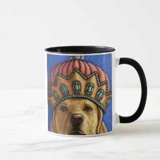 """Life is Better With a Lab"" Queen Lab With Crown Mug"