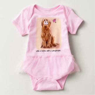 Life is better with a Labradoodle Baby Bodysuit