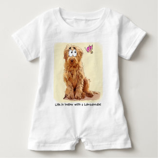 Life is better with a Labradoodle Baby Romper
