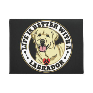 Life Is Better With A Labrador - White Doormat