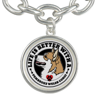 Life Is Better With A Pembroke Welsh Corgi Charm Bracelets