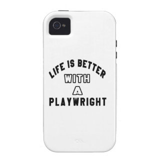 Life Is Better With A Playwright Case-Mate iPhone 4 Case
