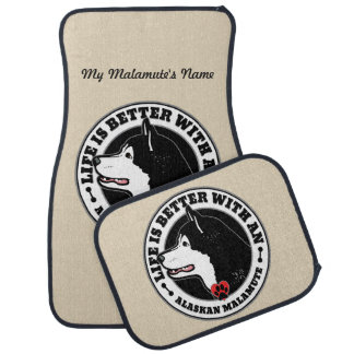 Life Is Better With An Alaskan Malamute Dog Breed Auto Mat