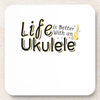 Life is Better With an Ukulele Uke Music Lover Coaster