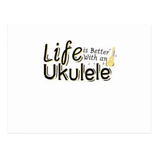 Life is Better With an Ukulele Uke Music Lover Postcard
