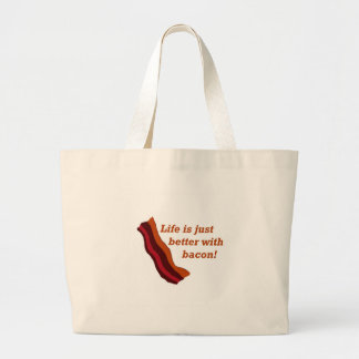 Life is better with Bacon Large Tote Bag