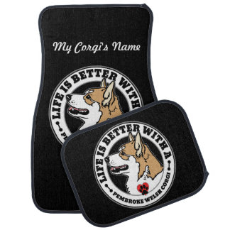 Life Is Better With Corgi Dog Breed Car Mat