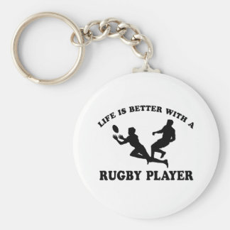 Life is better witha Rugby Player Keychain