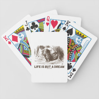 Life Is But A Dream (Red King Snoring Wonderland) Bicycle Playing Cards