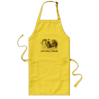 Life Is But A Dream (Wonderland Sleeping Red King) Long Apron