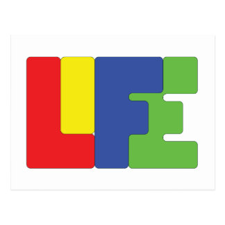 Life is color. postcard