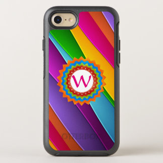 Life is Colorful Monogram Customizable OtterBox Symmetry iPhone 7 Case