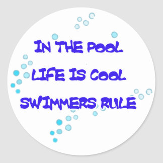 Life is Cool Round Stickers
