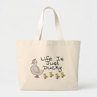 Life Is Ducky Large Tote Bag