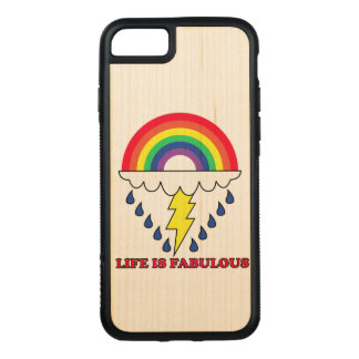 Life Is Fabulous Carved iPhone 7 Case