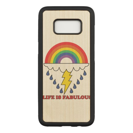 Life Is Fabulous Carved Samsung Galaxy S8 Case