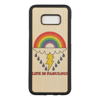 Life Is Fabulous Carved Samsung Galaxy S8+ Case