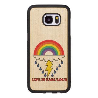 Life Is Fabulous Wood Samsung Galaxy S7 Edge Case