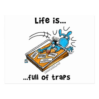 Life is full of Traps Postcard
