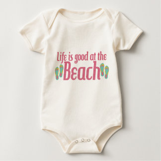 Life is good at the Beach Baby Bodysuit