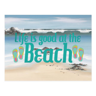 Life is good at the Beach Postcard