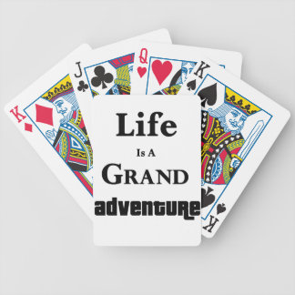 Life Is Grand Adventure Bicycle Playing Cards
